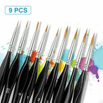 Load image into Gallery viewer, Miniature Paint Brushes Detail Set (9PCS)