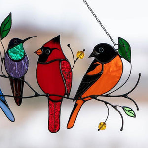 Stained Bird Window Hanging Suncatcher