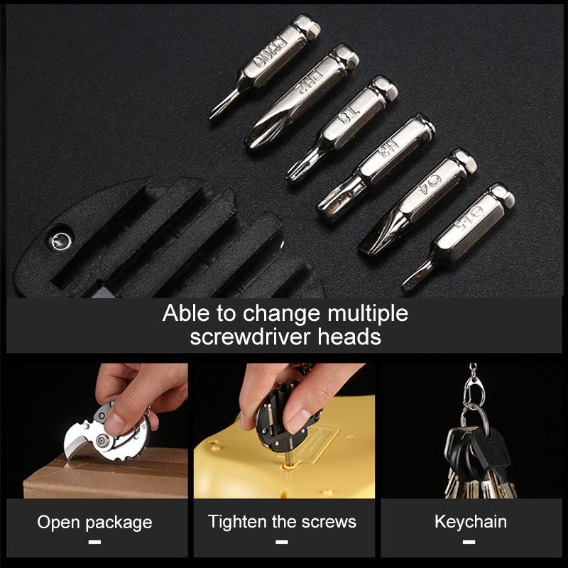 Multifunctional coin screwdriver