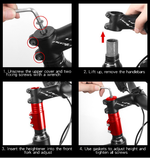 Load image into Gallery viewer, Bicycle Fork Stem Extender Handlebar Riser Aluminium Alloy