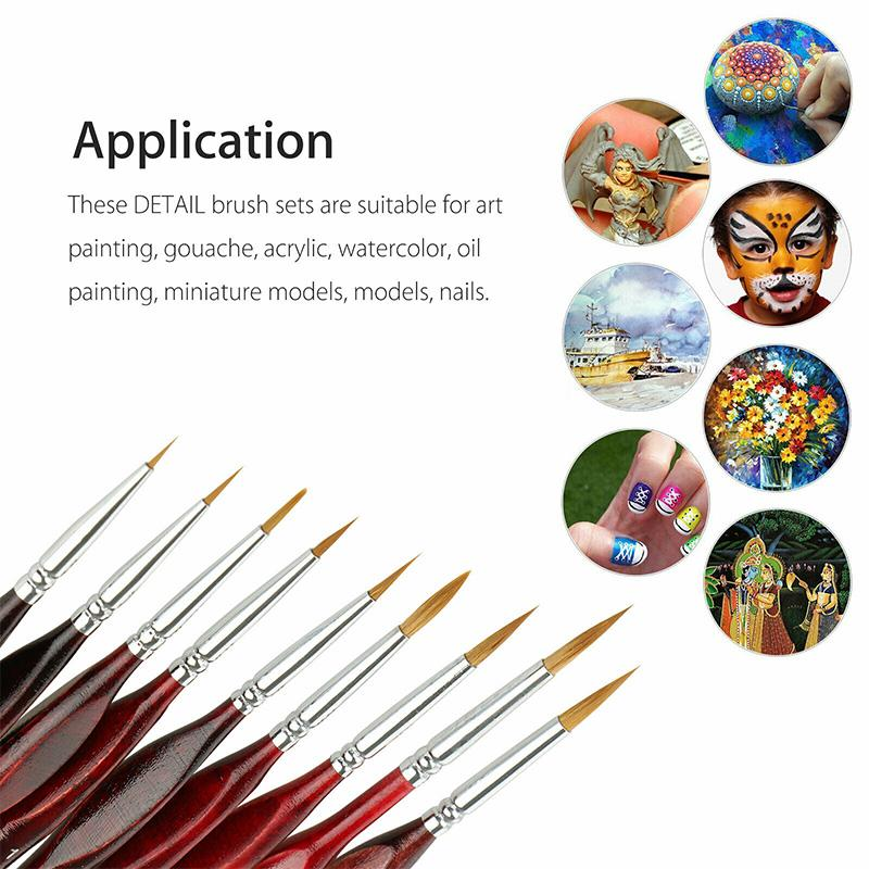 Miniature Paint Brushes Detail Set (9PCS)
