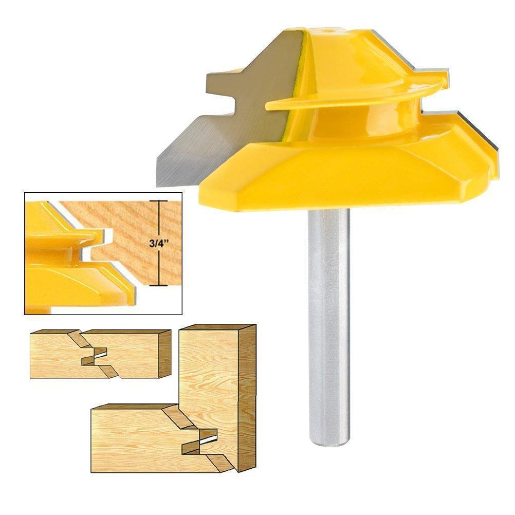 45 Degree Lock Miter Router Bits