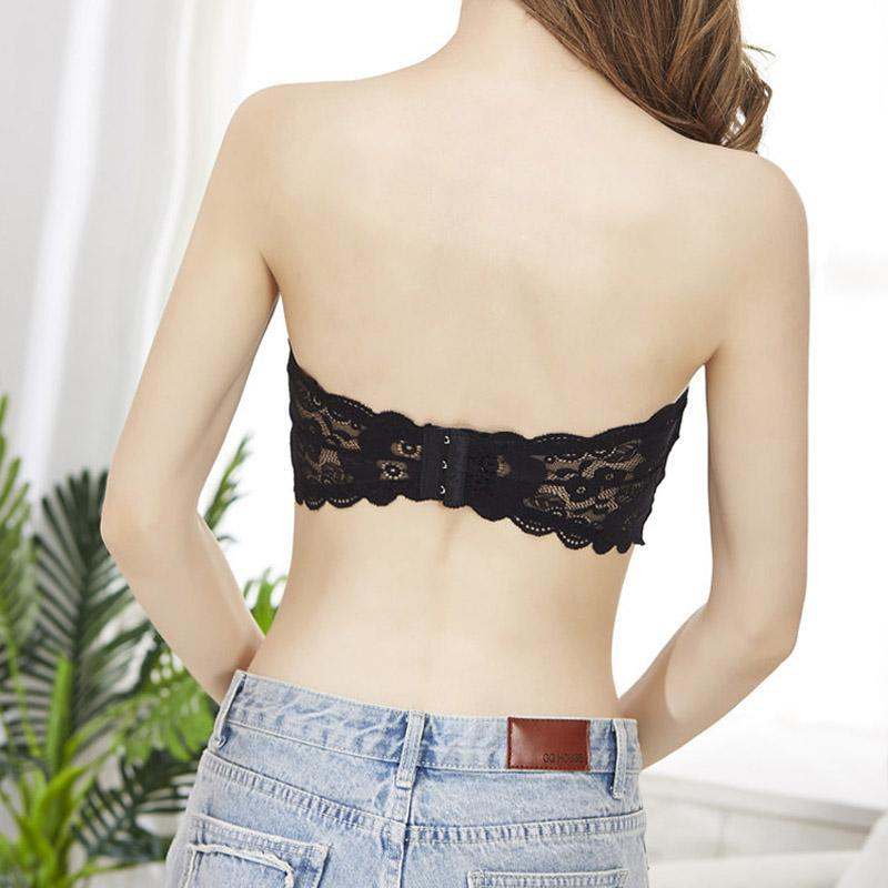 Women Lace Tube Bra