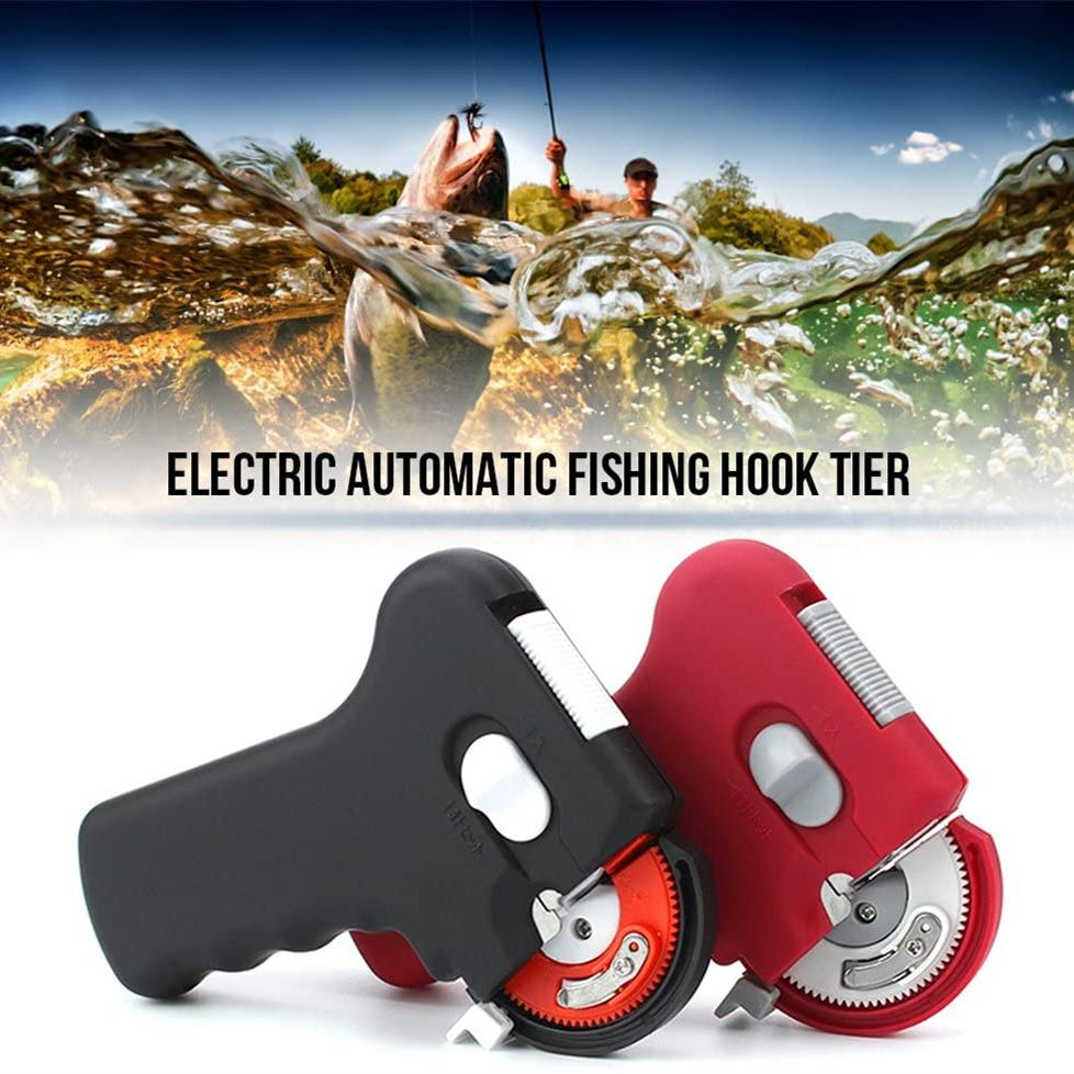 Electric automatic fish hook tying tool