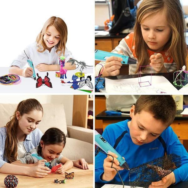 3D Printer Pen For Children And Adults Drawing with 9m Filament