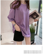 Load image into Gallery viewer, Candy Color Short Sleeve Loose T-Shirts