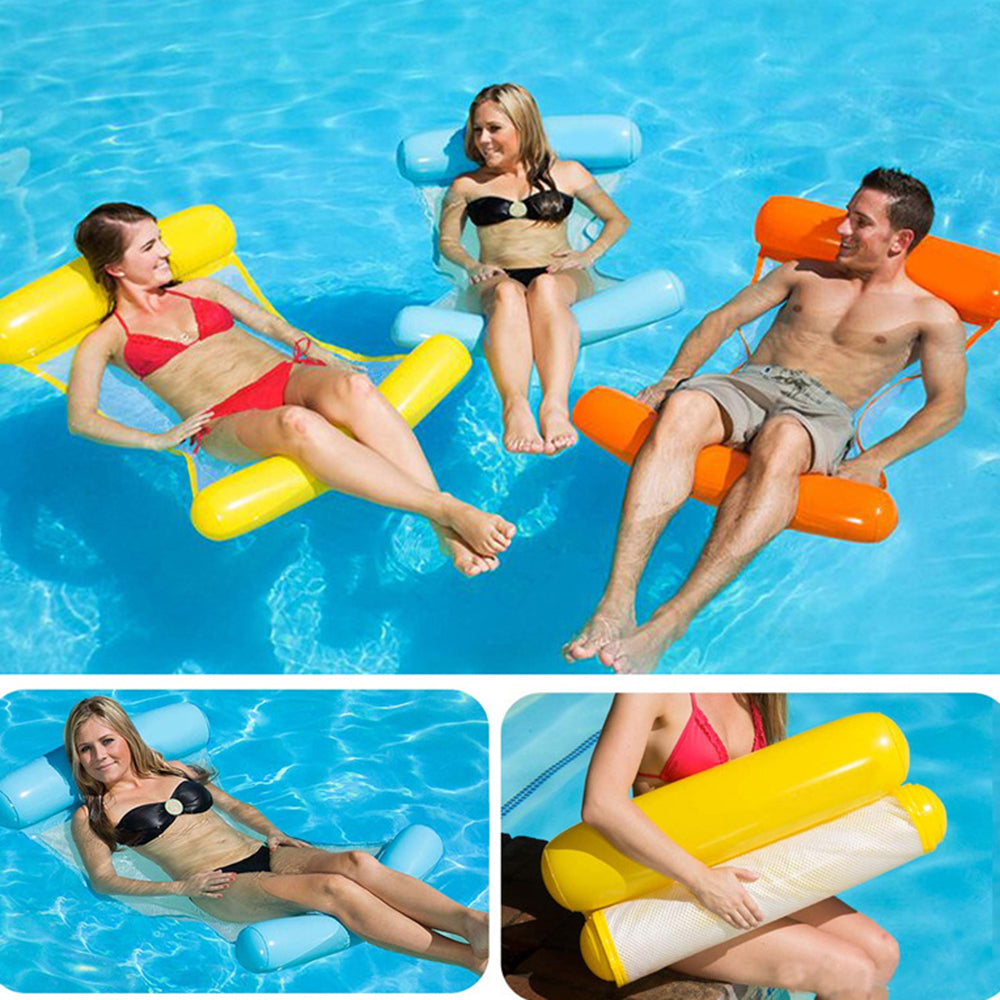 Water hammock recliner inflatable Swimming Mattress