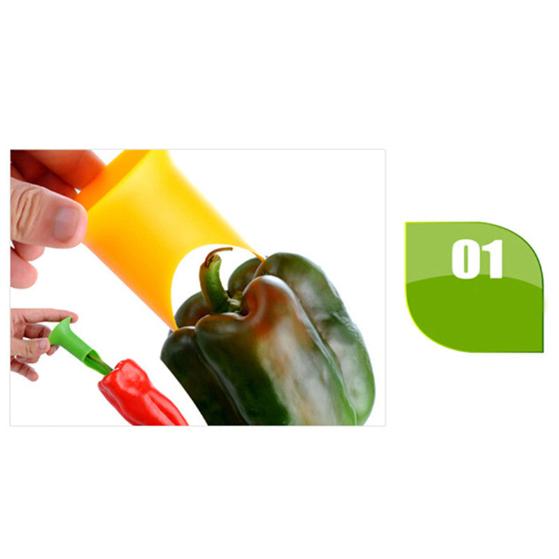 2in1 Pepper Chili Bell Jalapeno Corer Seed Remover