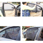 Load image into Gallery viewer, Car Side Window Universal Magnetic Sunshade Curtains