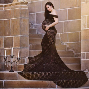 Lace Maternity Dress For Photo Shoot