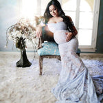 Load image into Gallery viewer, Lace Maternity Dress For Photo Shoot
