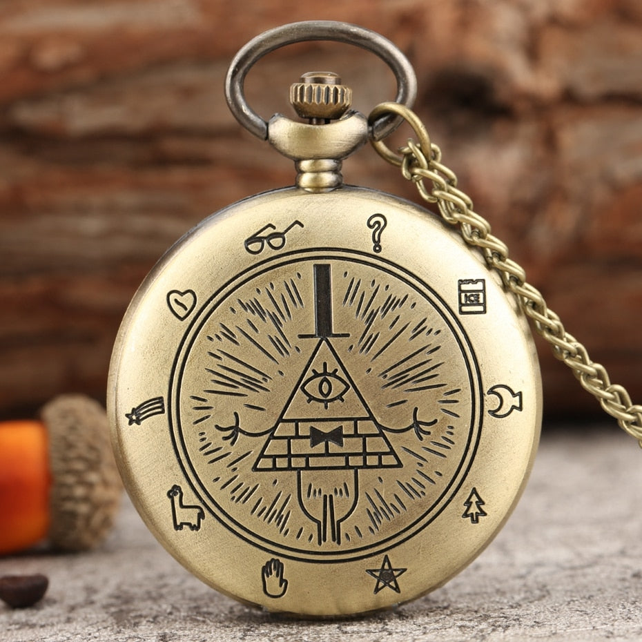 Eye of Providence Weird Town Triangle Devil Quartz Clock Gifts