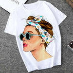Load image into Gallery viewer, Plus Size Women Summer Vogue Print Lady Casual T-shirt