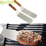 Load image into Gallery viewer, Stainless Steel Cooking Spatula With Wooden Handle