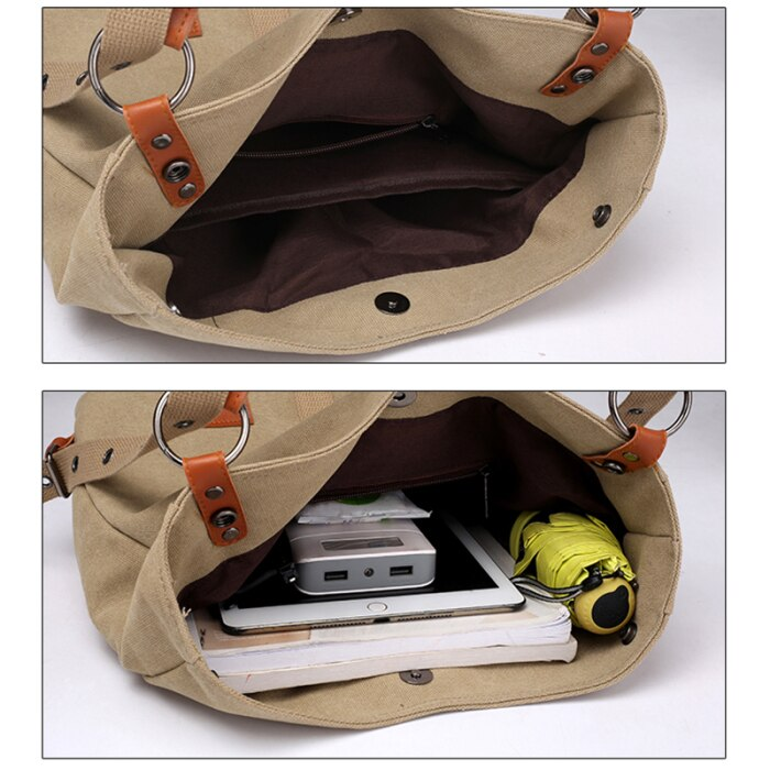 SHOULDER BAG WITH EXTRA LARGE CAPACITY