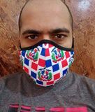 New Arrivals Dominican Republic (DR) Face Mask (Adults) with filter pocket
