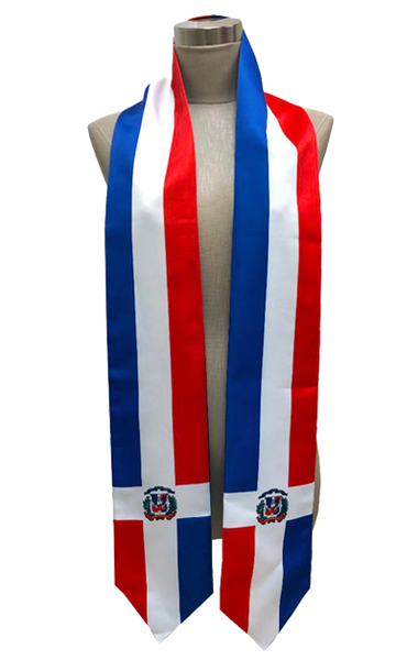 Dominican Republic Flag Graduation Stole