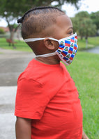 New Arrivals Haitian Pride Face Mask for Kids (Boys & Girls) with filter pocket