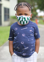 New Arrivals Nigerian Pride Face Mask for Kids (Boys & Girls) with filter pocket
