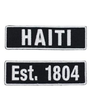 One Flag Nation™ Haitian Pride Embroidered Iron On Patch Est 1804