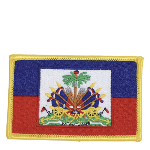 One Flag Nation™ Haitian Pride Embroidered Iron On Patch Haitian Flag