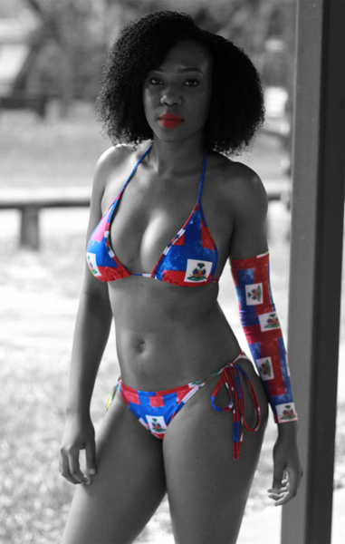 One Flag Nation™ Haitian Flag Bikini and Sleeve