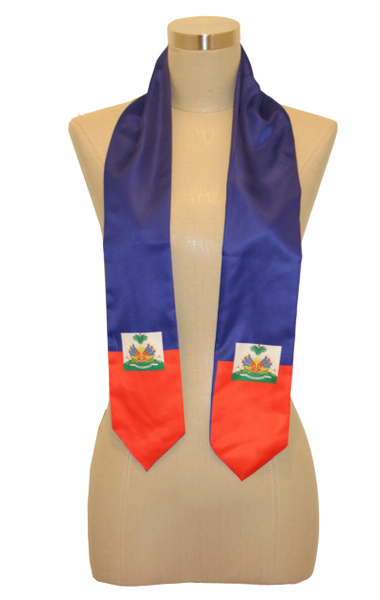 One Flag Nation™ Kids International Flag Stoles Haiti