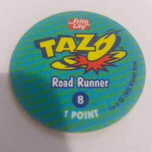 🦅 Tazo || Frito Lay || Looney Tunes || #8 || Road Runner || 1995 || Pre-owned || Collectable || Flat Item