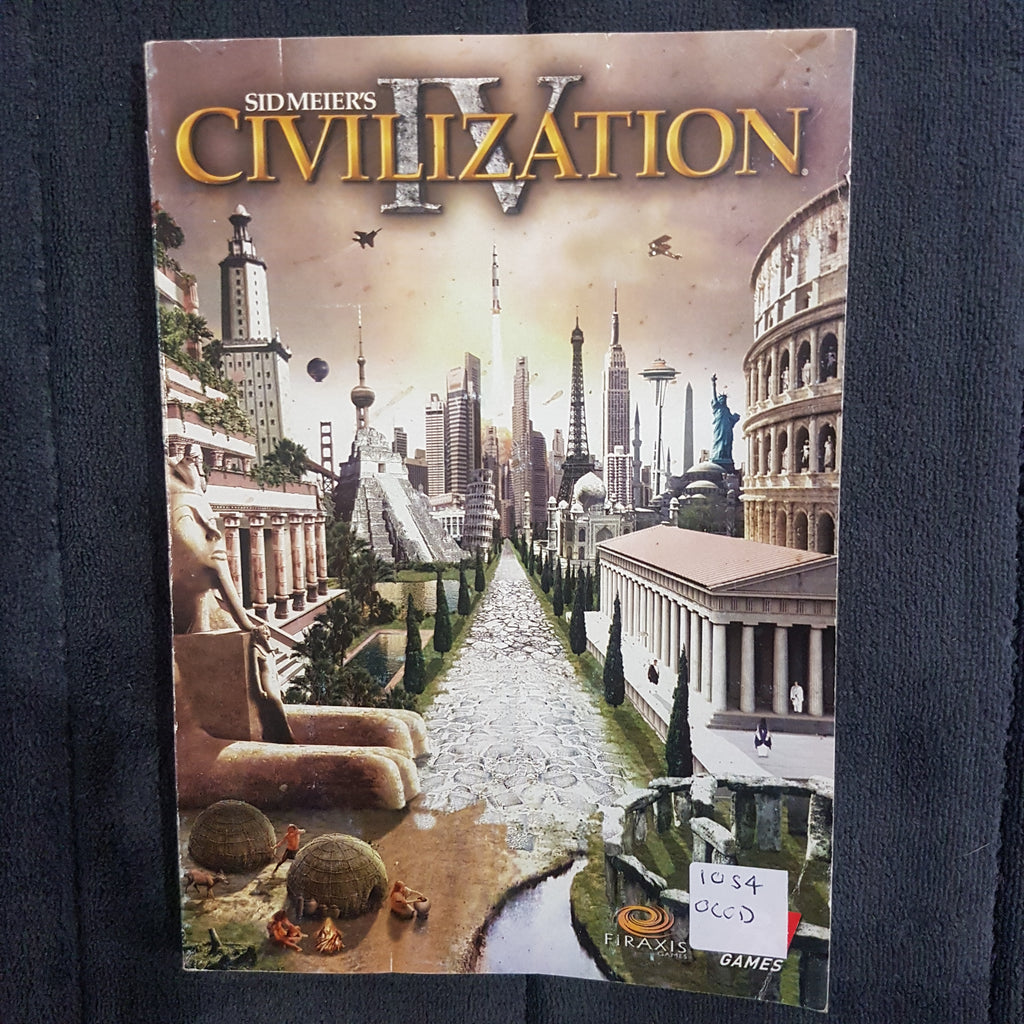 ⚒ Sid Meier's Civilization 4 || Instruction Manual || Used || From PC Video Game