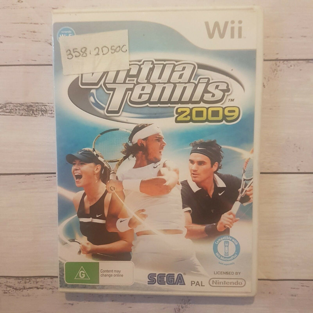 Virtua Tennis 2009 || Nintendo Wii || Includes Manual || Pre-owned