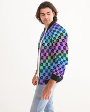 Load image into Gallery viewer, Holo-Check Bomber Jacket