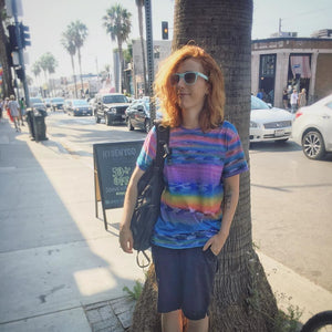 Bronwyn Lundberg wears the Ska Wave Tee from Fancy Nothing in Venice, CA.