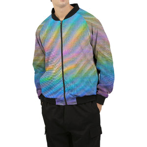 Holo-Synthesis Bomber Jacket