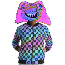 Load image into Gallery viewer, Holo-Check Bomber Jacket (Women's)