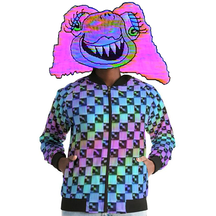 Holo-Check Bomber Jacket (Women's)