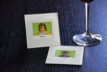 Load image into Gallery viewer, Wedding Glass Coasters (Set of 2) - Lego® Wedding Gift