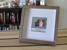 Load image into Gallery viewer, Lego® Wedding Couple Frame - Brown Frame