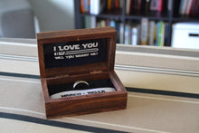 Load image into Gallery viewer, Star Wars Theme Wedding Ring Box