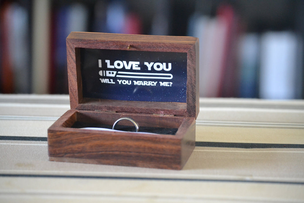 Star Wars Theme Wedding Ring Box