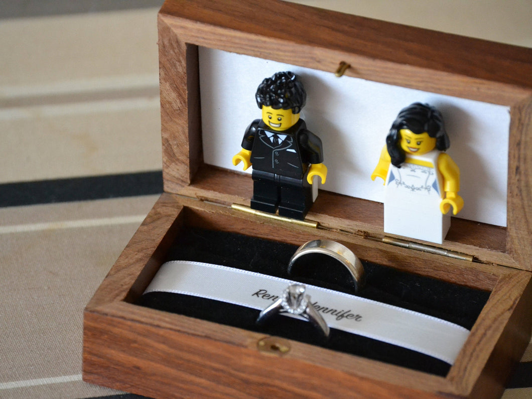 Lego® Wedding Ring Box for Two Rings
