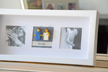 Load image into Gallery viewer, Lego® Wedding Couple Frame (White) - With Custom Pictures