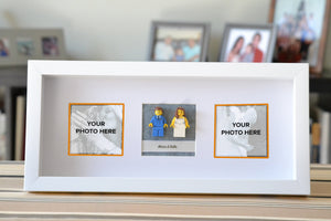 Lego® Wedding Couple Frame (White) - With Custom Pictures