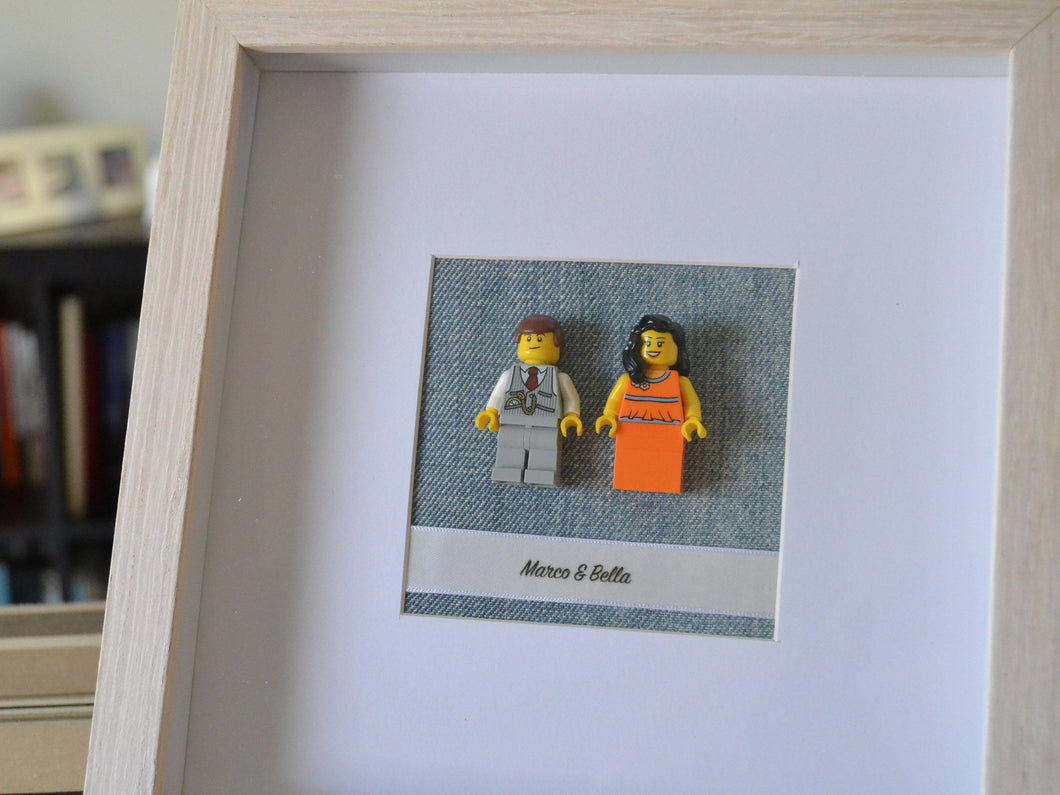 Lego® Wedding Couple Frame - Beige Frame