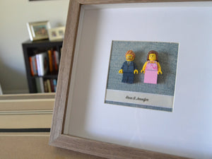 Lego® Wedding Couple Frame - Brown Frame