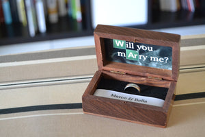 Breaking Bad Theme Wedding Ring Box