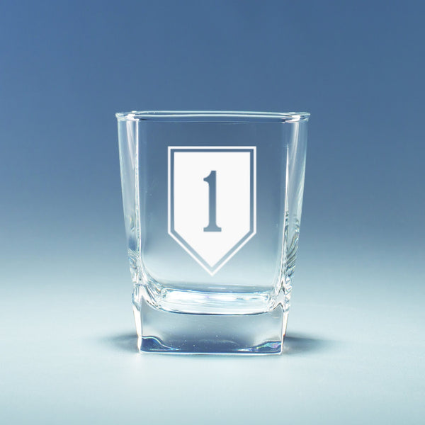 1st Infantry Division - Geo Rocks Glass Set
