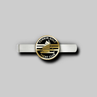 Tonkin Gulf Yacht Club Twotone Tie Bar with Polished Epoxy