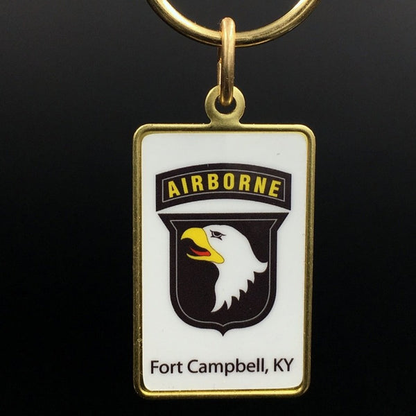 Rectangle Key Ring - 101st Airborne Division