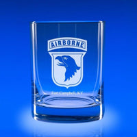 101st Airborne Division - Deluxe Rocks Glass Set