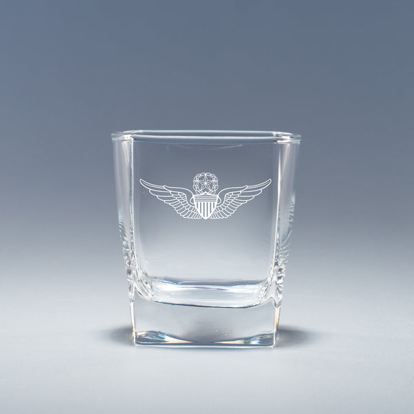 Army Aviation Wings Master - Geo Rocks Glass Set